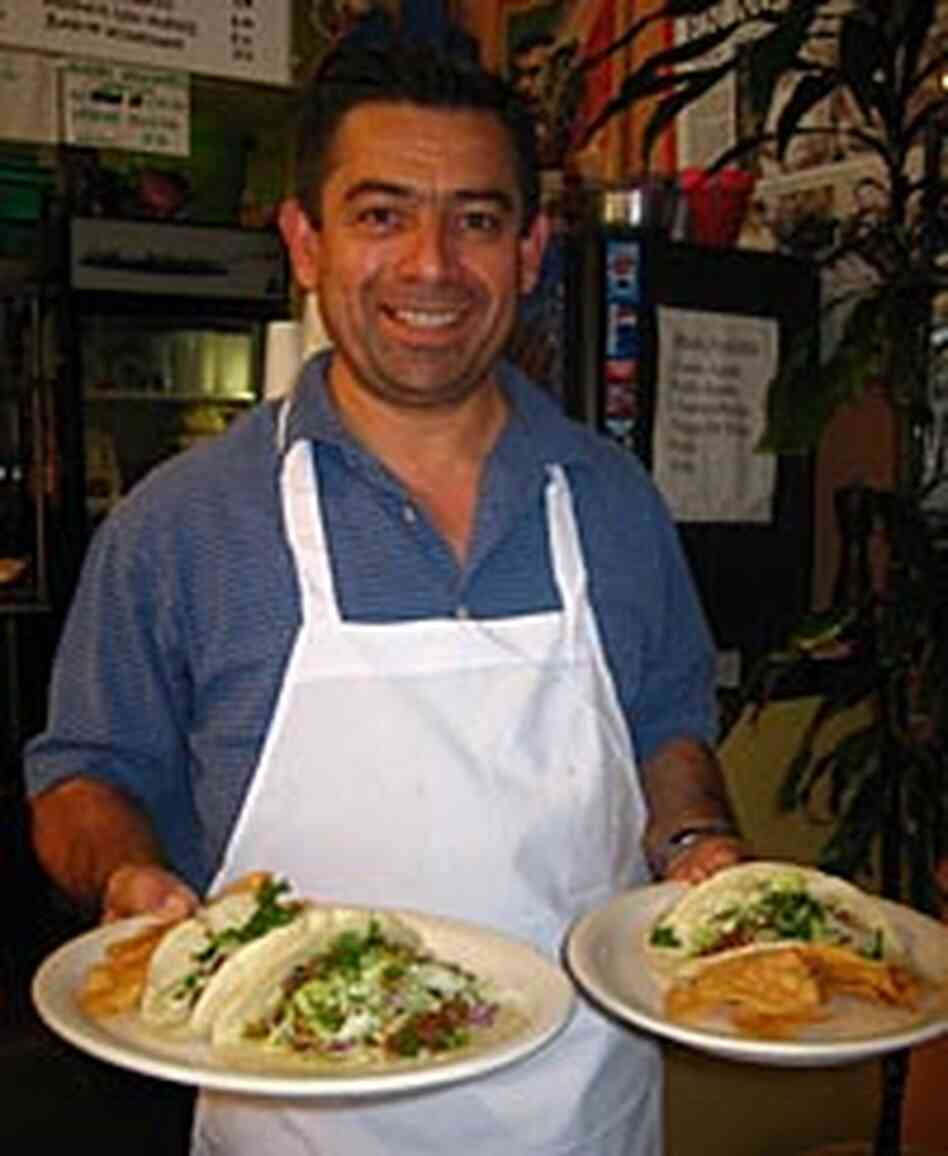 Roberto Malagan presents one of the many specialities of Teres Mexican Grill in Los Angeles