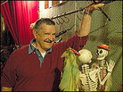 Bob Baker with one of his marionettes.
