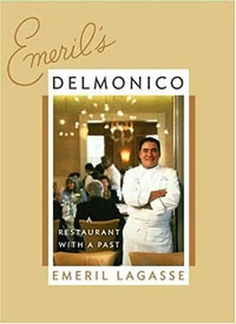 Cover of Emeril Lagasse's latest cookbook, 'Emeril's Delmonico'