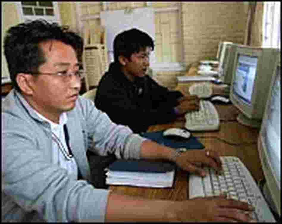Both adults and children take computer classes at the technology center