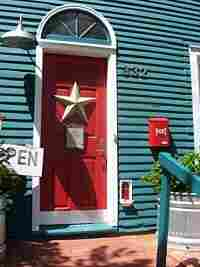 The fairy door outside the Red Shoes shop in downtown Ann Arbor