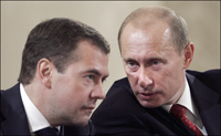 Russian President Vladimir Putin (right) has endorsed First Deputy Prime Minister Dmitry Medvedev as the country's next president.
