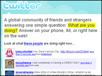 The Twitter service invites you to publicly answer the question,
