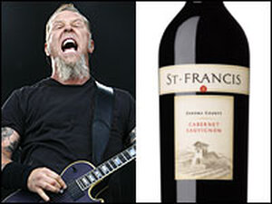 Hetfield and a bottle of Cab