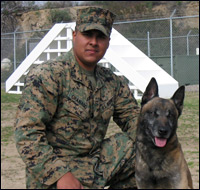 Lance Cpl. Justin Granado  and Jerry
