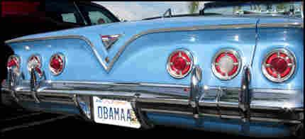 Obamaa Parked in Front of Starbucks, Credit: Steve Proffitt/NPR