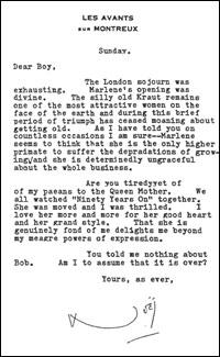 Coward Letter