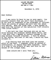 Hellman Letter
