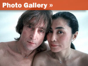 John Lennon and Yoko Ono photographed less than two weeks before Lennon was killed.