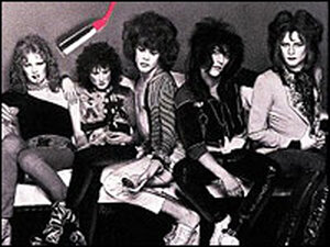 Detail from the cover the New York Dolls eponymous debut album.