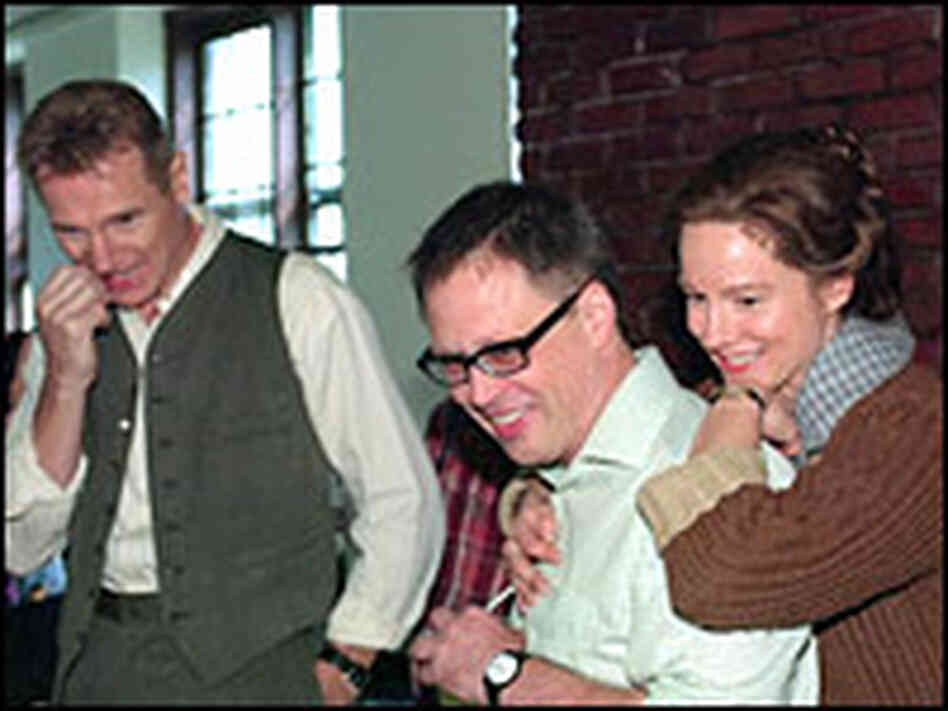 Liam Neeson, director Bill Condon and Laura Linney. Credit: Camera 5