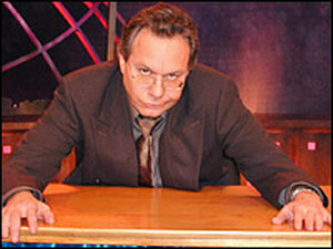 Lewis Black on the set of 'The Daily Show with Jon Stewart'