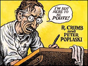 Detail from the cover of 'The R. Crumb Handbook'