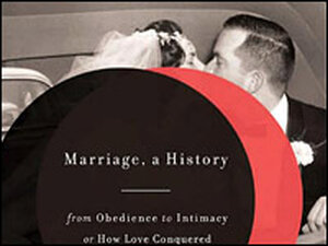 Detail from the cover of 'Marriage, a History'