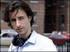 Director Noah Baumbach on the set of 'The Squid and the Whale'.