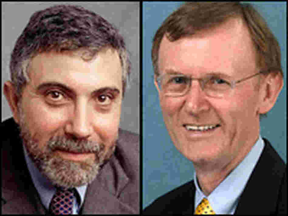 Paul Krugman, left, and Stuart Butler, right.