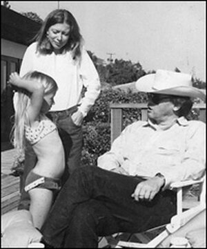 Joan Didion, center, with her daughter, Quintana Roo, and husband, John Gregory Dunne.