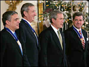 Presidential Medal of Freedom: Bush, Tenet, Franks and Bremer