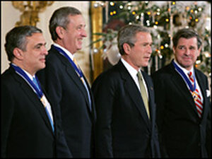 Presidential Medal of Freedom: Bush, Tenet, Franks and Bremer
