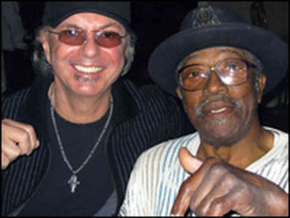Dion with a fellow blues fan: Bo Diddley.