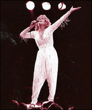 Dusty Springfield in concert at the Albert Hall.