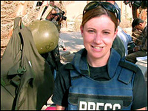 Jackie Spinner, on assignment in Iraq.