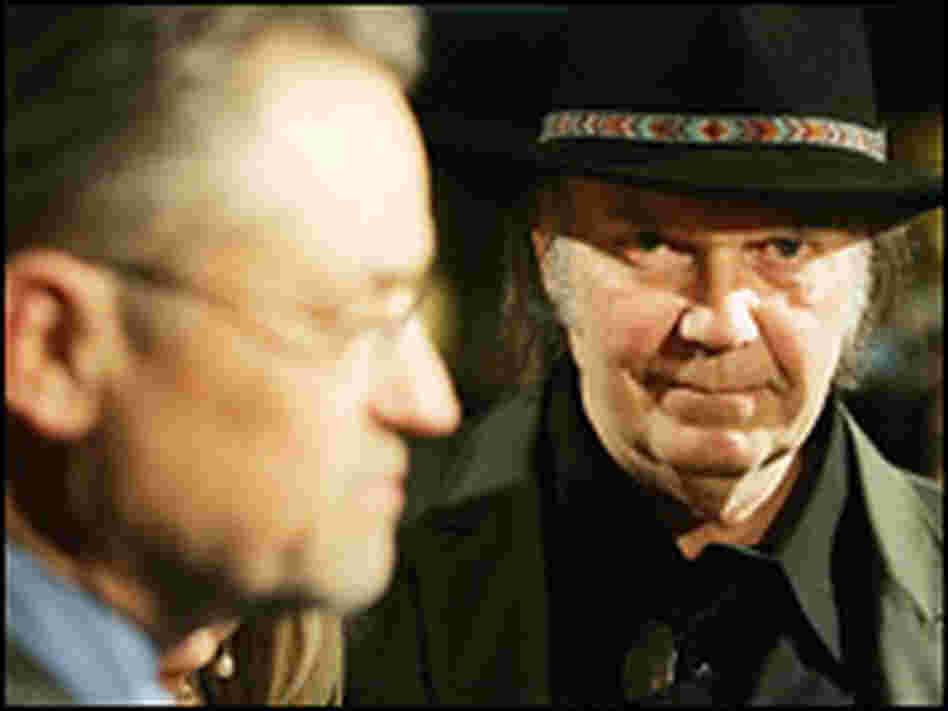 Neil Young, right, and Jonathan Demme.