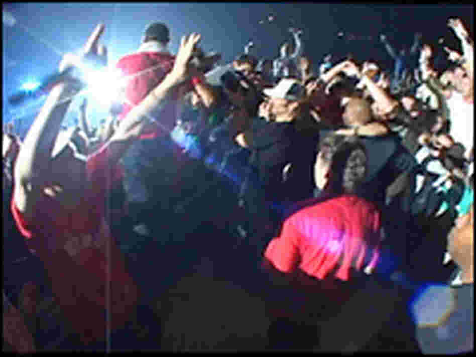 Into the Crowd: A scene from 'Awesome; I F*****'  Shot That!'