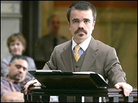At court: Peter Dinklage in 'Find Me Guilty'