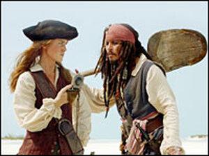 Keira Knightley and Johnny Depp