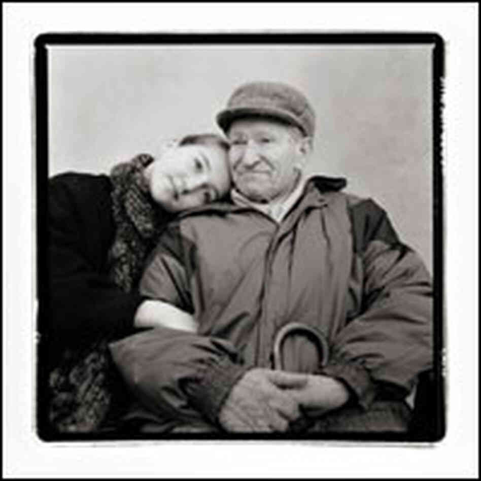 Adam Kulberg and his granddaughter Alma, photographed in Copenhagen.