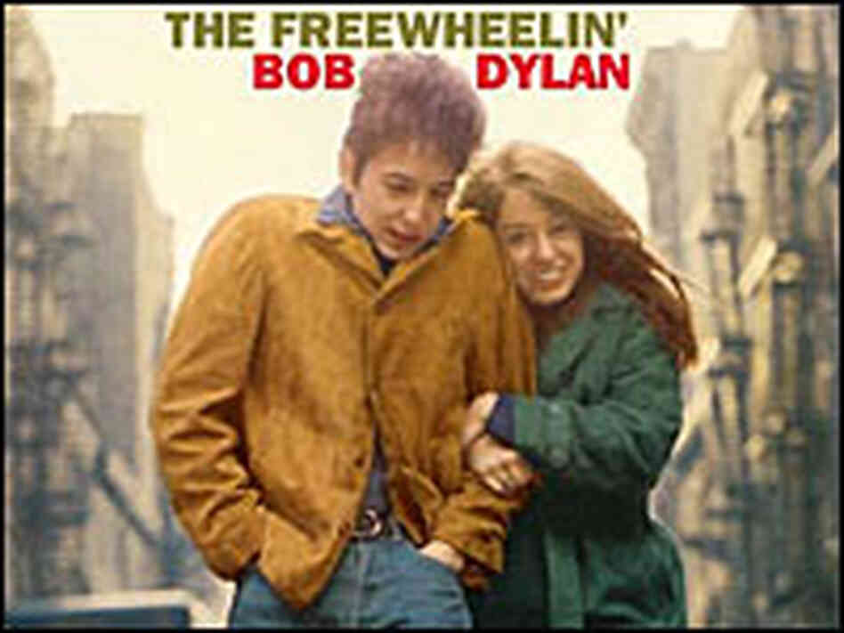 Album cover, 'The Freewheelin' Bob Dylan