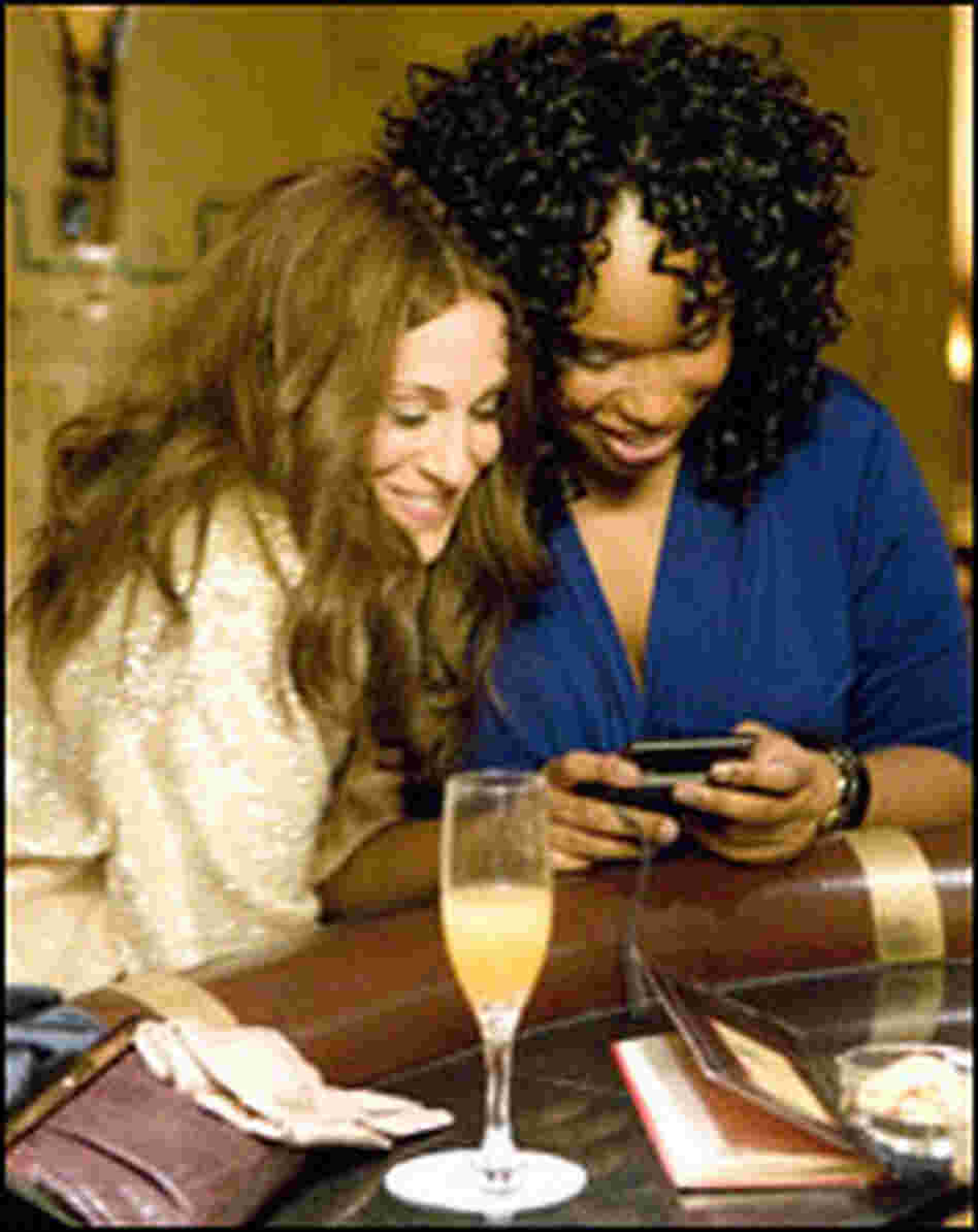 "Sarah Jessica Parker and Jennifer Hudson in ""Sex and the City."""
