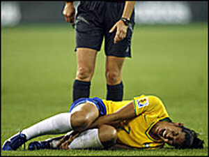 Soccer phenom Daniela suffered an injury during the 2007 World Cup games.