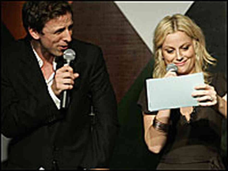 Seth Meyer and Amy Poehler