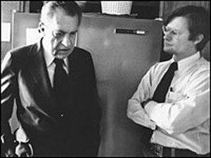 James Reston Jr. with Richard Nixon in 1977