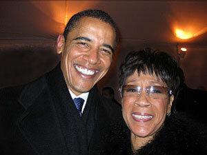 President Barack Obama and Bettye Lavette