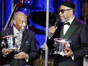Leon Huff and Kenneth Gamble receive the Icon Award at BMI's 57th Annual Pop Awards