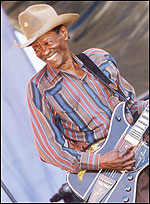 Clarence 'Gatemouth' Brown with guitar