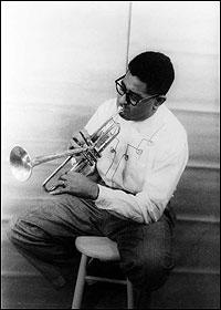 Dizzy Gillespie in 1955. Photo by Carl Van Vechten.