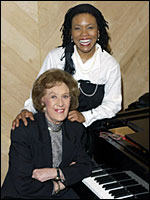 Marian McPartland (seated) with Dee Dee Bridgewater.