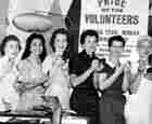 Five of the girls from WHER, circa 1955
