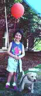 Catie Vance, age 4.
