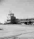 The control tower at Quonset Point Naval Air Station in 1941. The base was disestablished in 1974