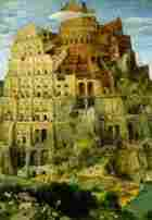 Painting of the Tower of Babel by Pieter Bruegel, between 1525 and 1569.