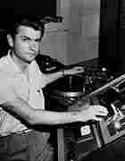 Sam Phillips at the reel to reel console at Sun Studios, Memphis, Tennesee..