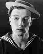 Buster Keaton, silent film star, wearing a sailors outfit, circa 1923
