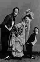 The Three Keatons: Buster, his mother Myra and father Joe, circa 1901.