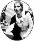 Aimee Semple McPherson preaches at Boston Gardens, 1933.