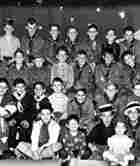 A portion of the Boy Scouts from Toop 3 in their annual picture taken at the show they put on.